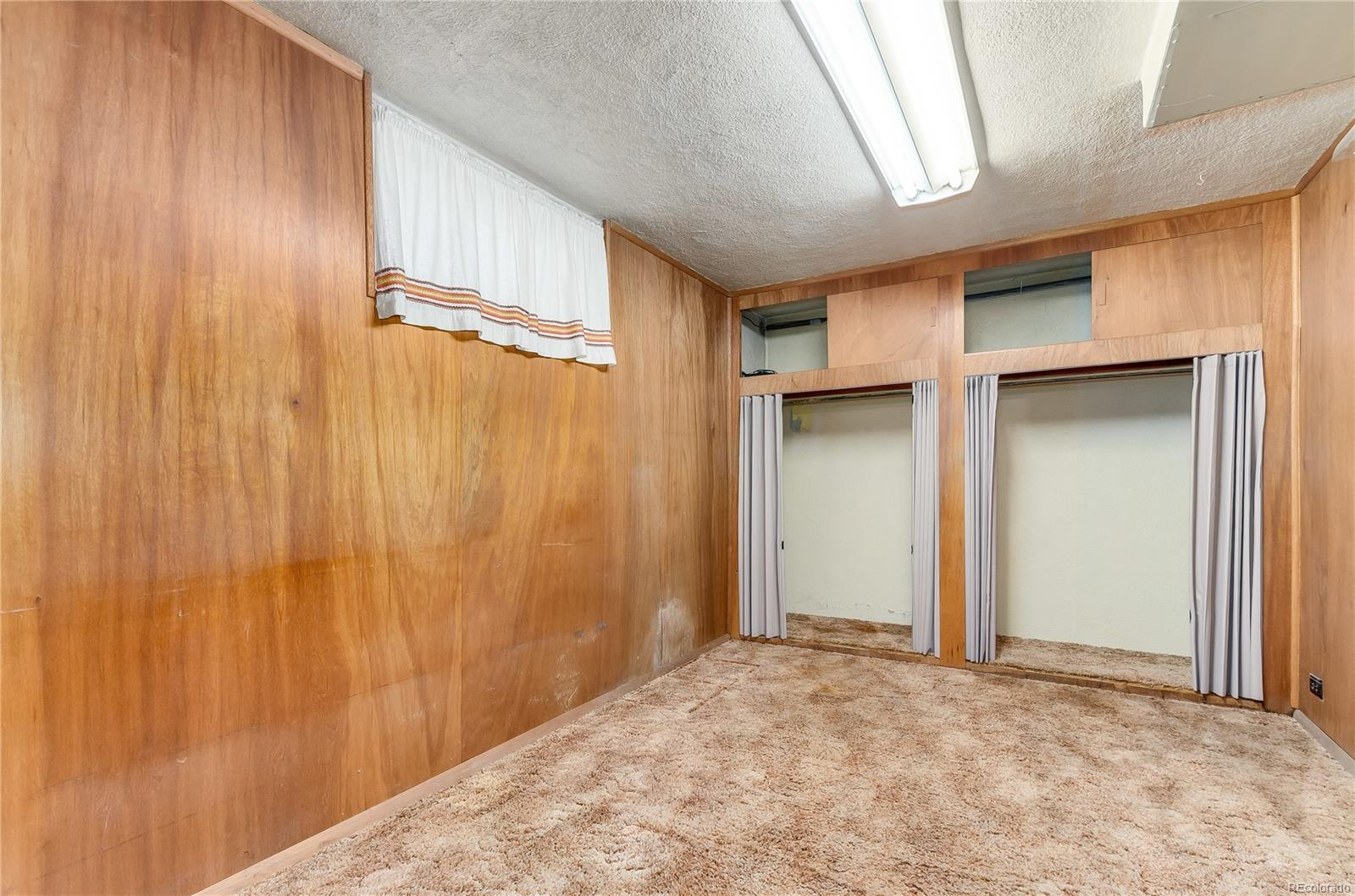 Basement bedroom is perfect for guests.