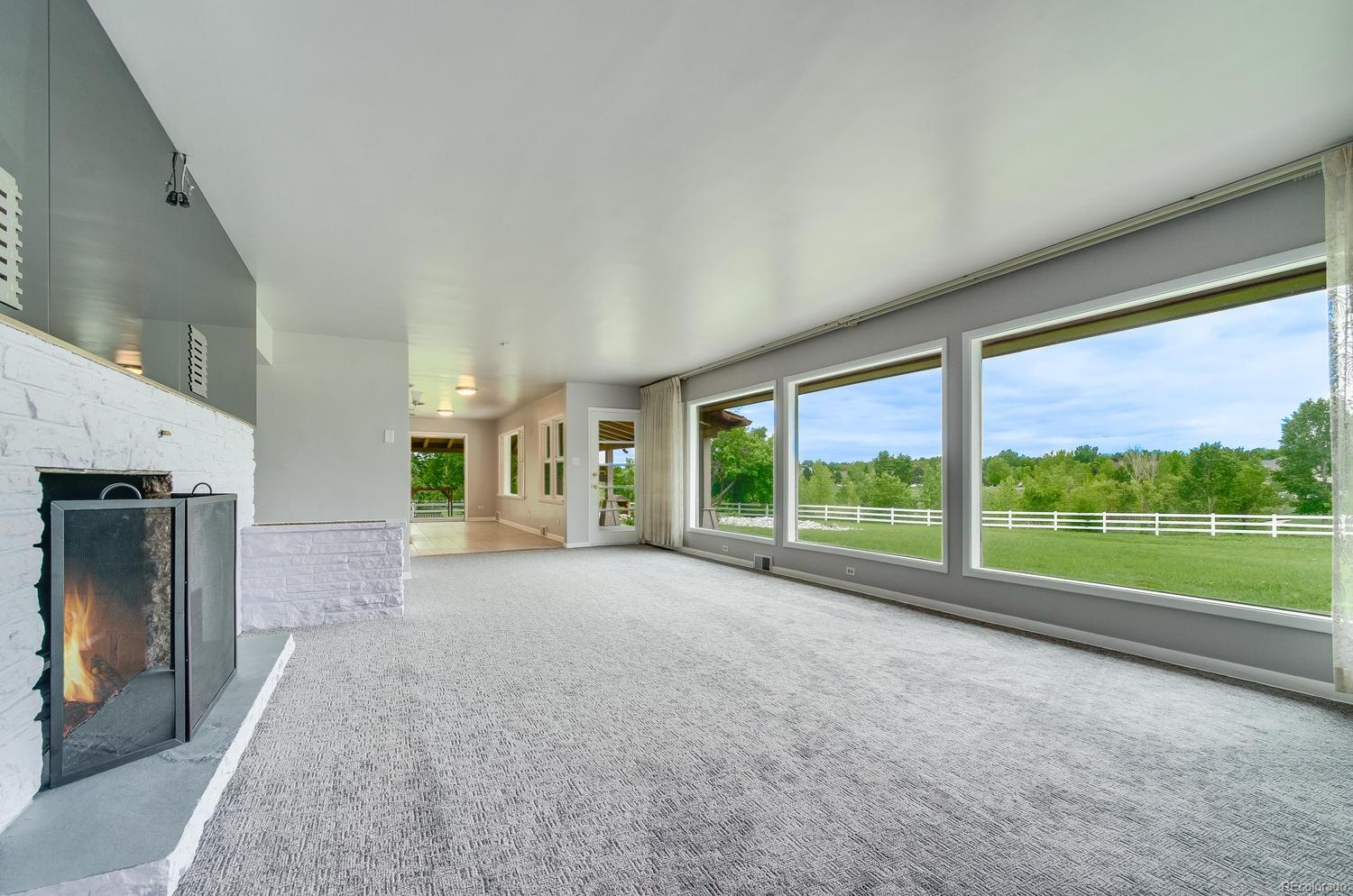 Gorgeous Views from Living Room Floor-to-Ceiling Windows