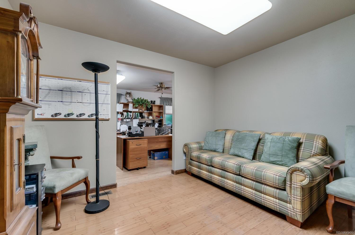 Flex space is perfect for a sitting room or hobby room!