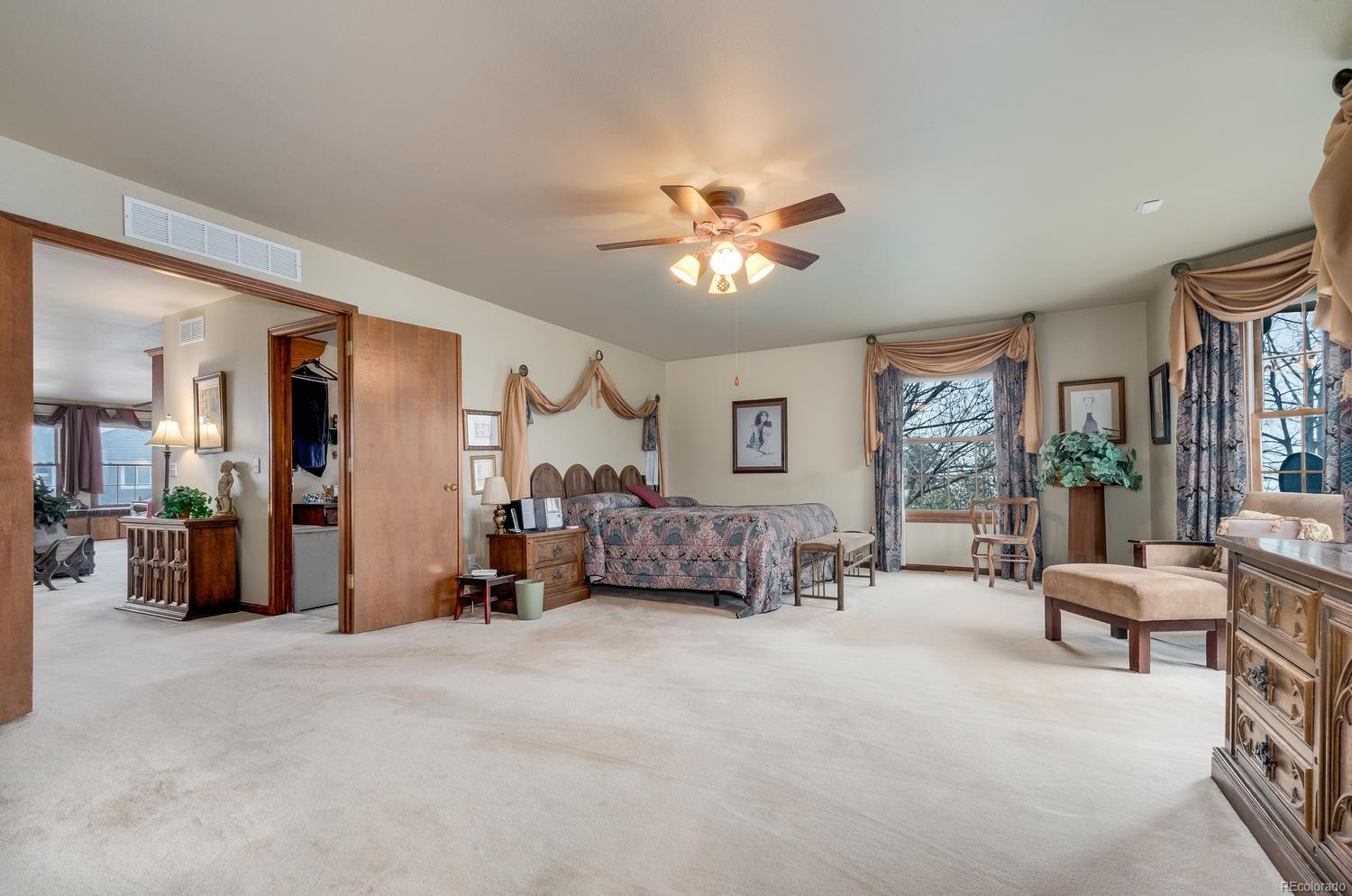 Spacious master bedroom is the perfect retreat!
