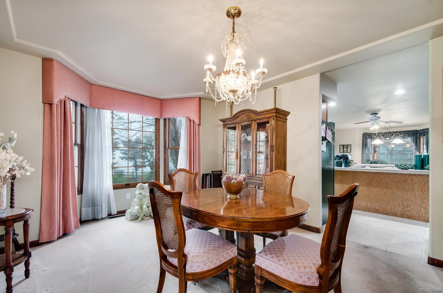 Easily flow between kitchen and dining room!