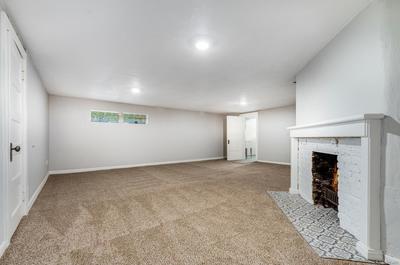 Finished basement rec room.
