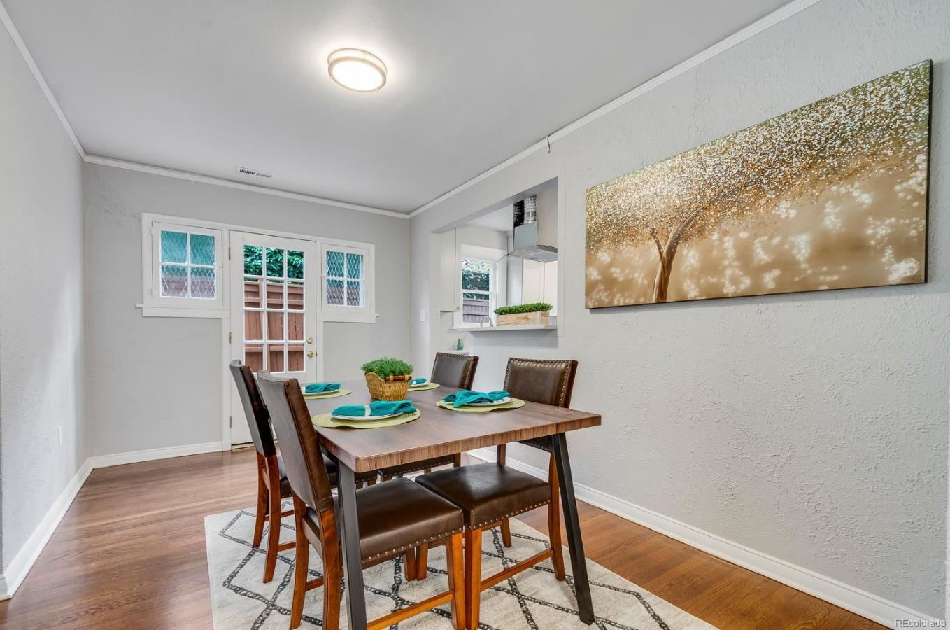 Dining Room provides access to the back deck and yard.