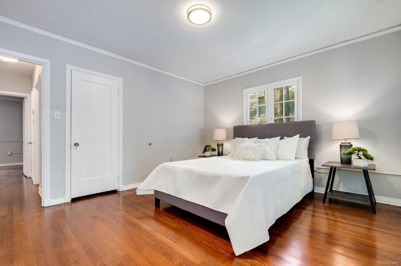 Master bedroom features a walk-in closet.