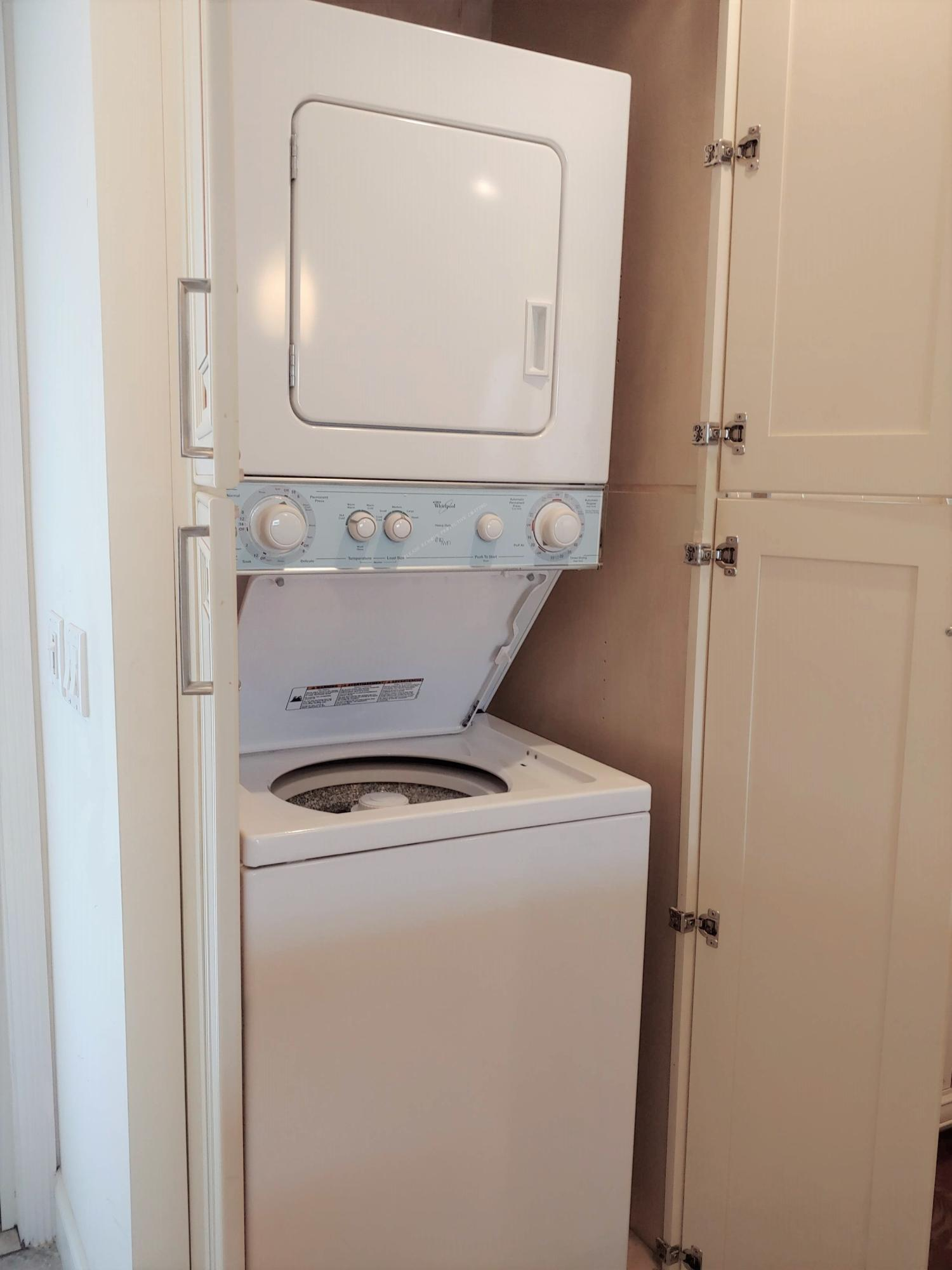 Laundry inside unit