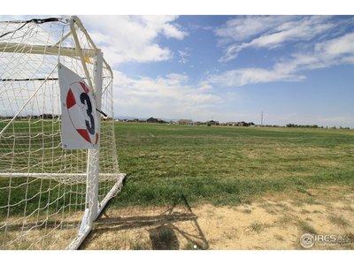 Adjacent soccer fields