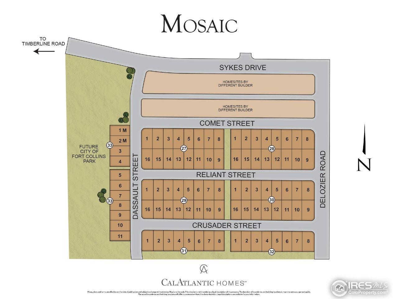 Mosaic site plan