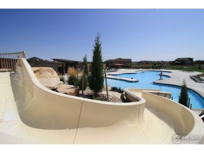 Amazing community pool with slide
