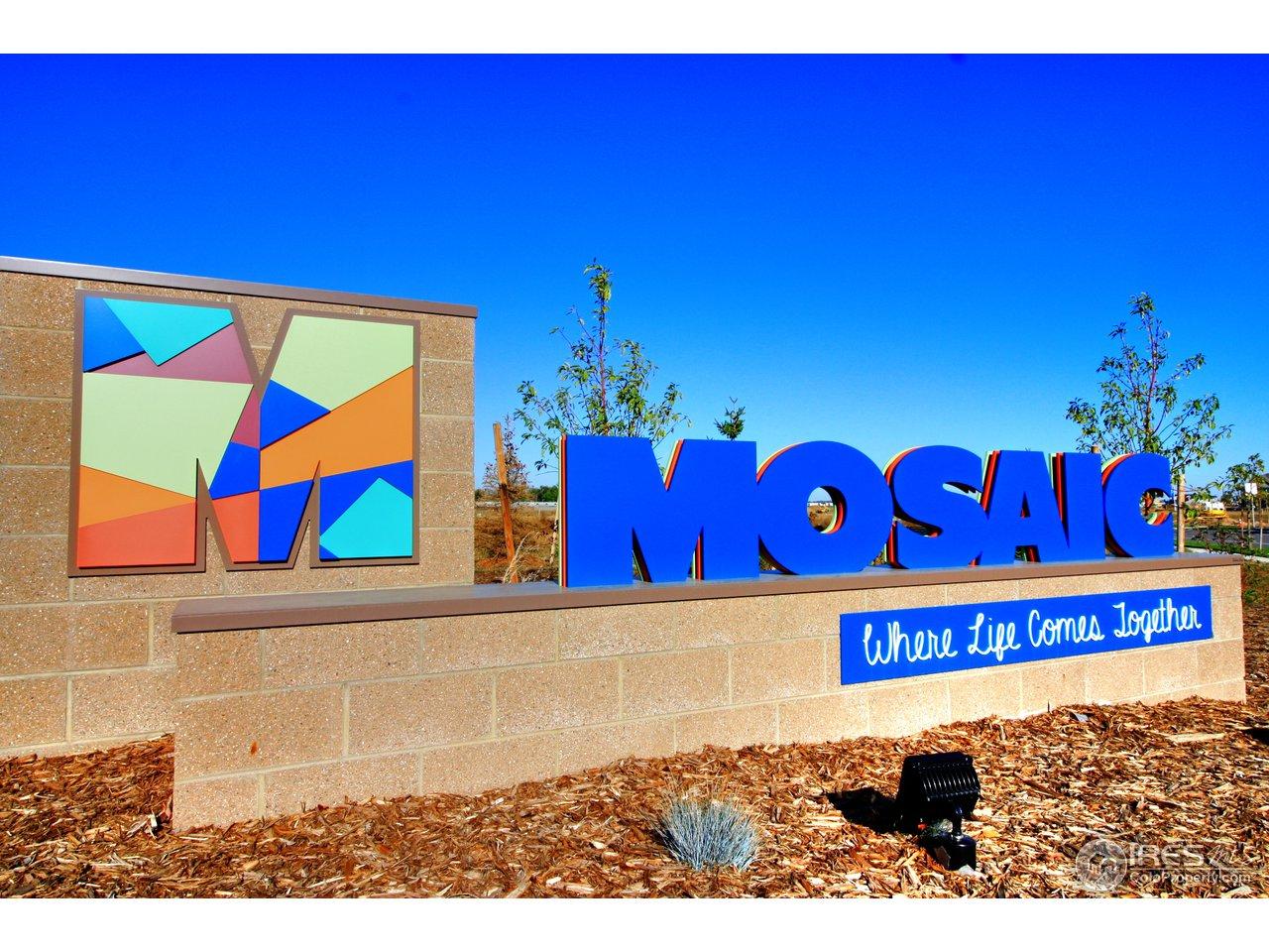 Mosaic entrance.