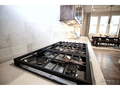 Gas range and double ovens