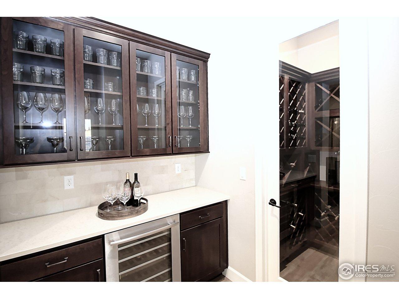 Butler's pantry w/ wine closet
