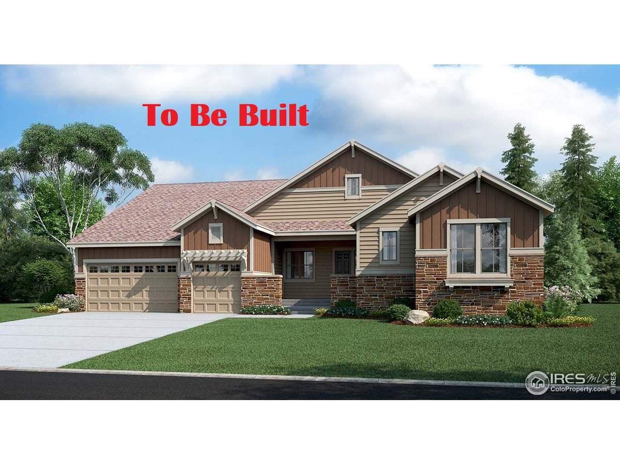 Rendering. Not actual home. To be built July.