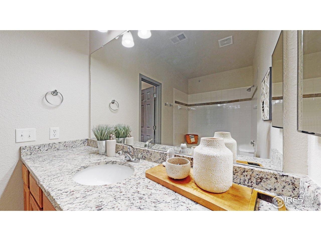 Granite countertop in master bath