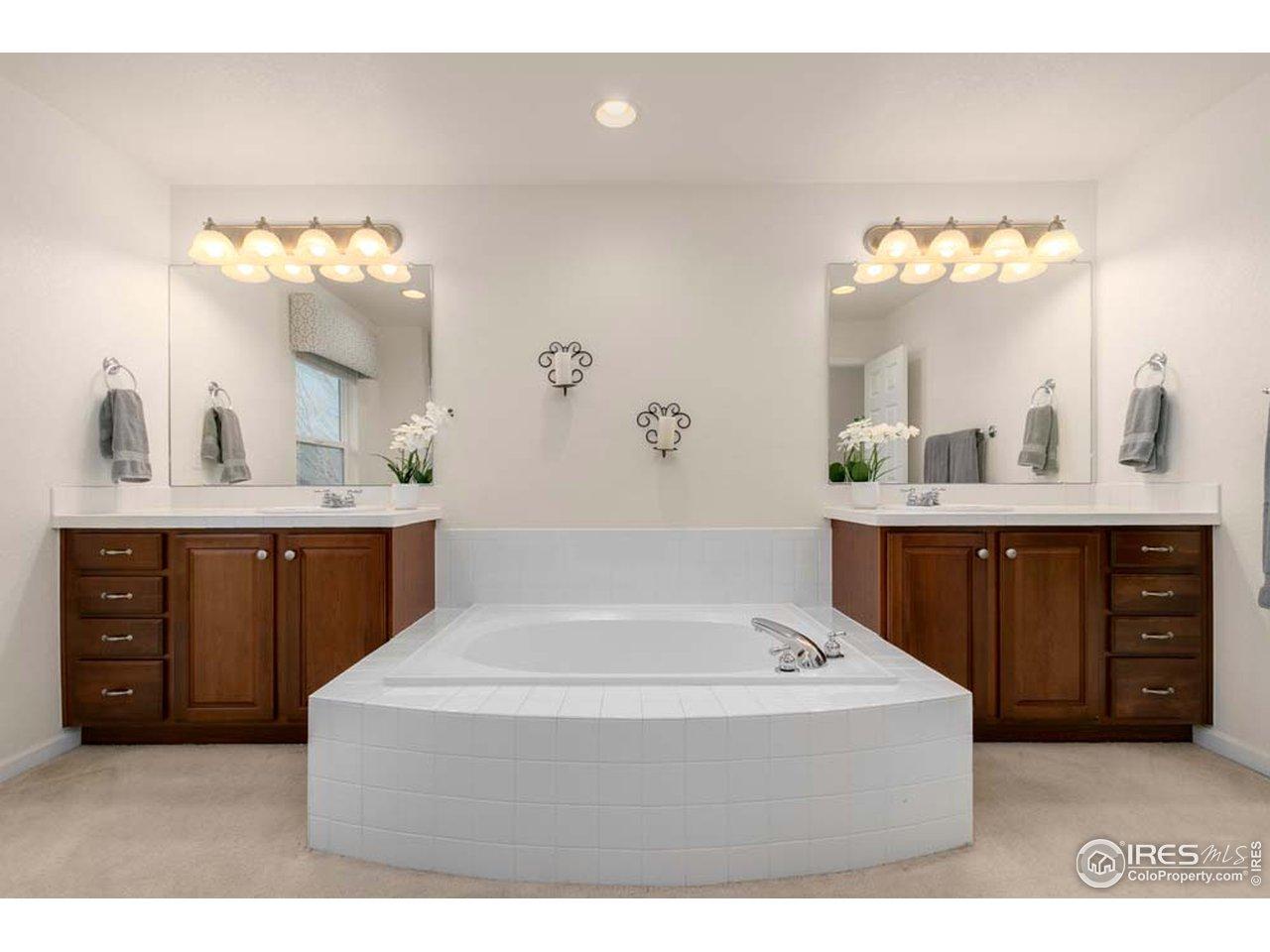 Double Vanity, tub