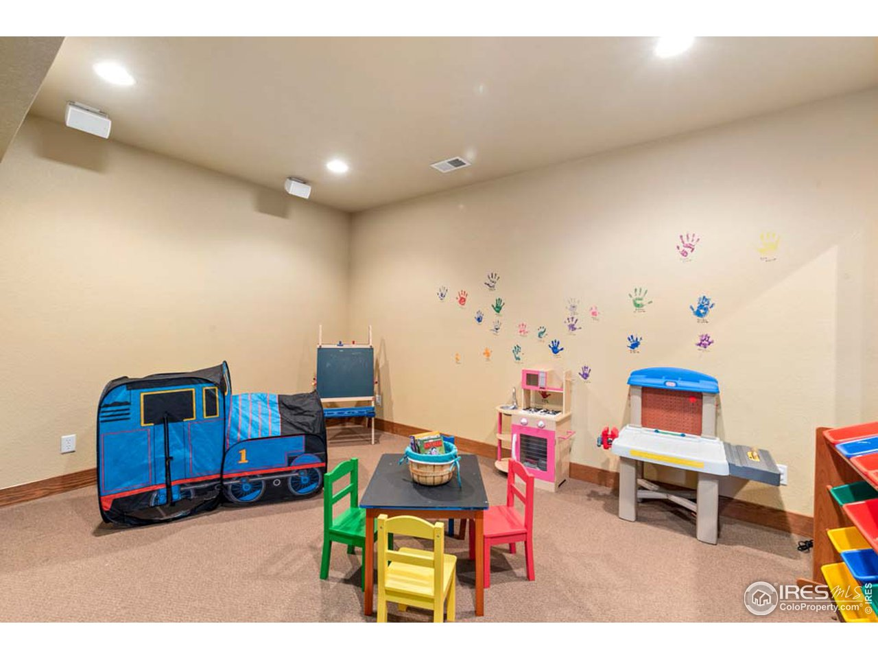 Basement playroom/Workout space