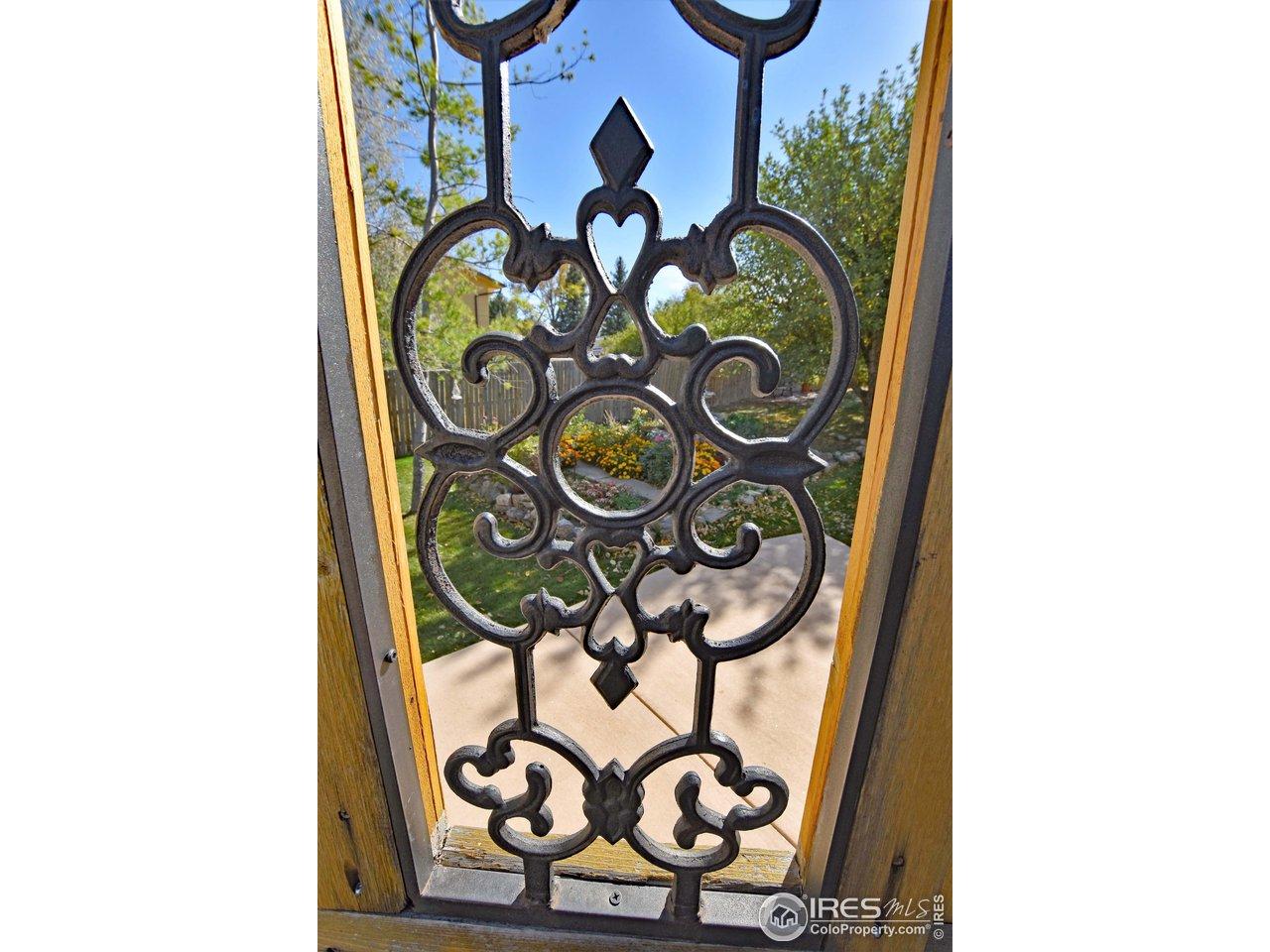 Gate to east flower gardens