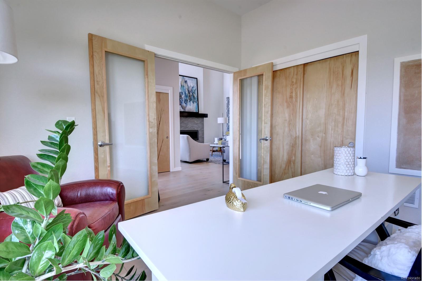 Double Glass Doors + Closet in Office