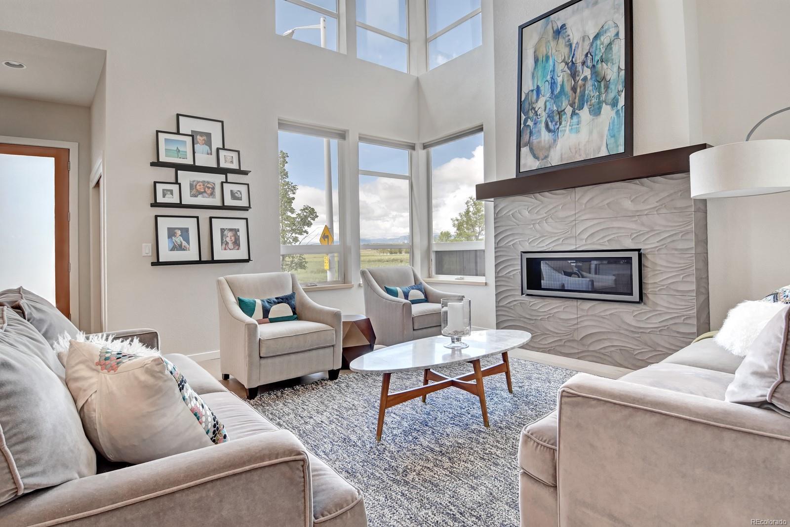 Custom Tile Fireplace & Sweeping Views