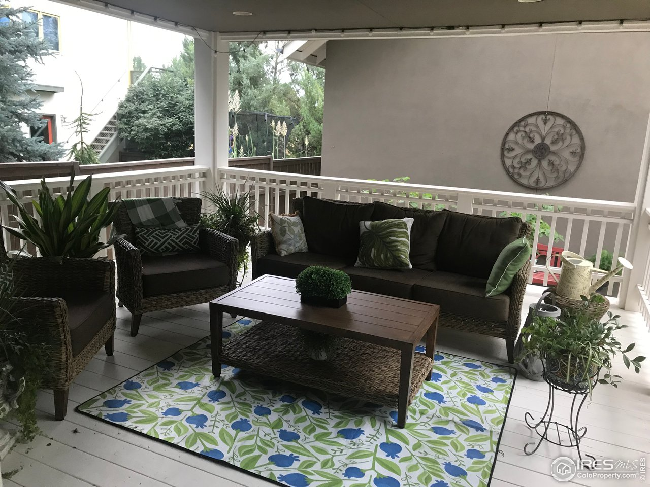 This covered patio is just like a 2nd living room