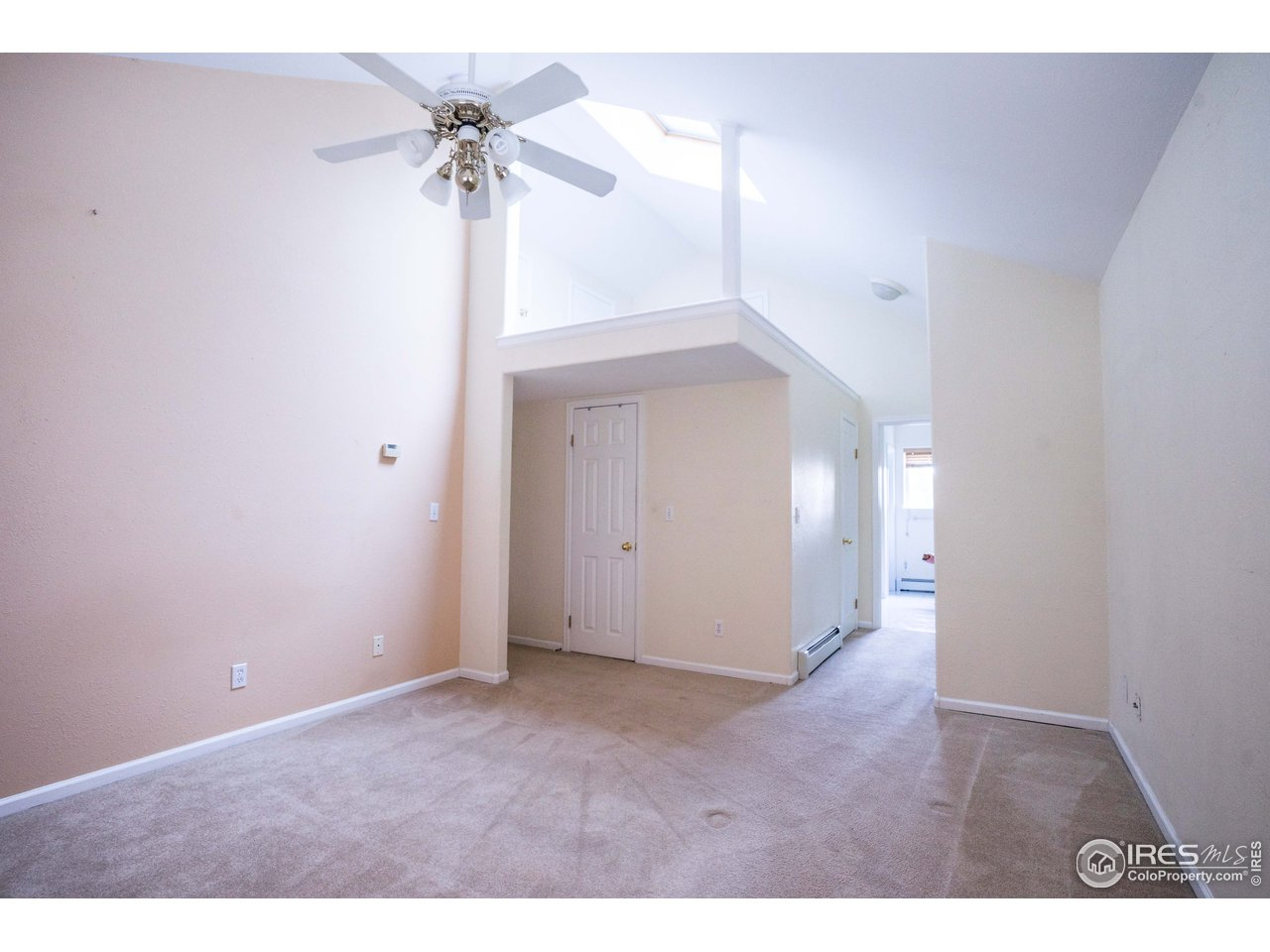 Master bedroom with lots of closets