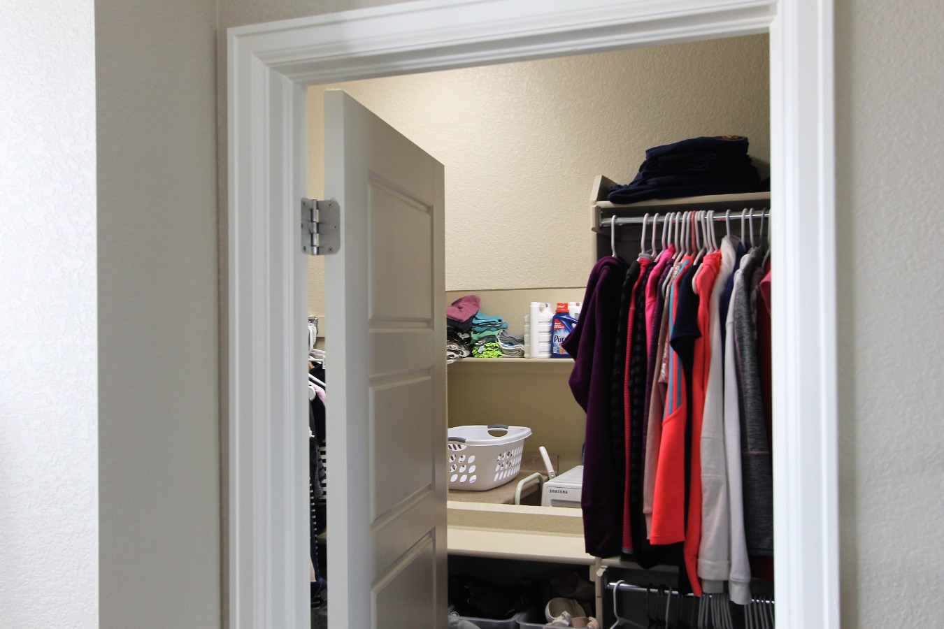 Walk in Closet with pass through to Laundry