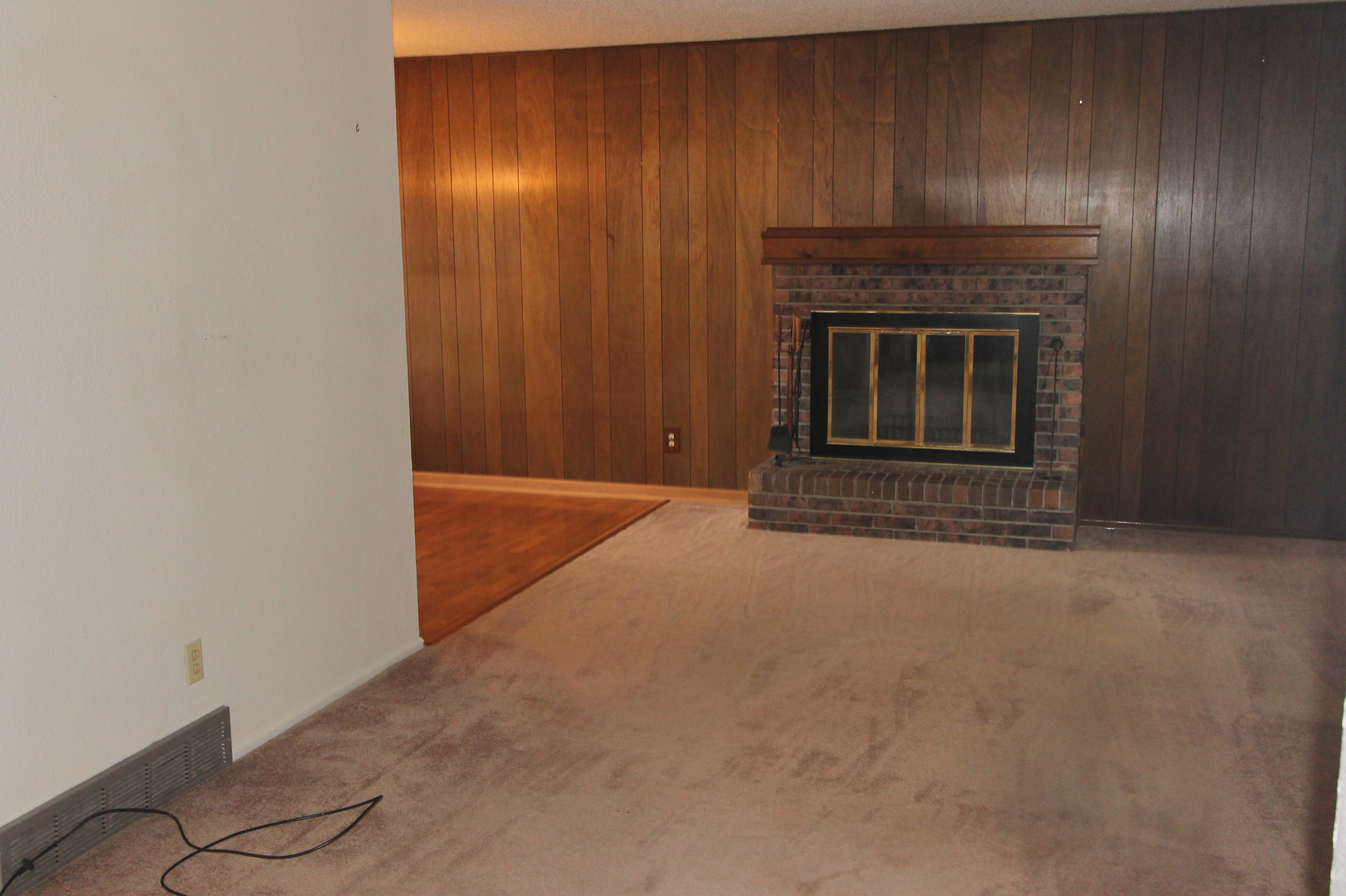 Wood burning Fireplace in Living/Dining Room