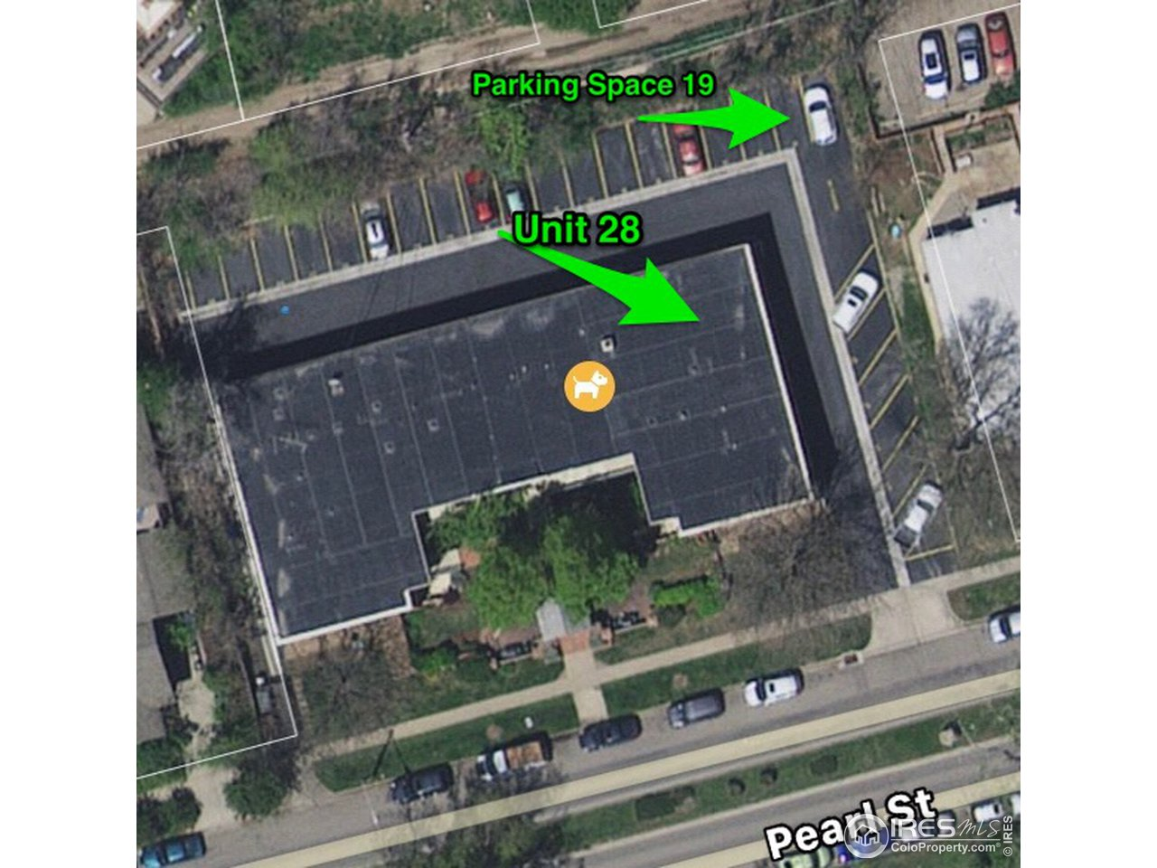 Unit 28 and parking spot locations