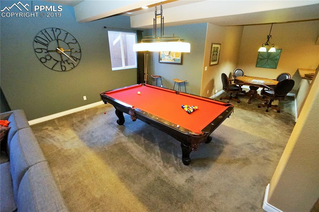 Great open areas are perfect for game tables or recreational space.