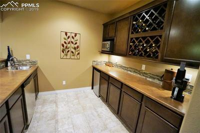 Full wet bar includes all appliances and wine storage.