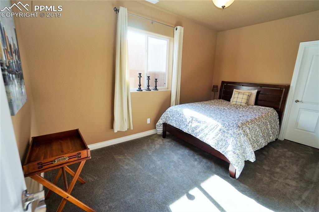 Second basement bedroom has walk-in closet.