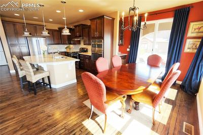 Separate dining room has a butler's pantry and walks out to an extended patio with gas line to grill and fire-pit.