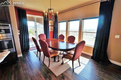 Dining area has great views of the front range and Pike's Peak.