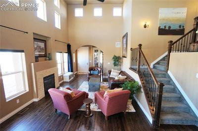 Welcoming archway at entryway leads to this popular open floor plan.