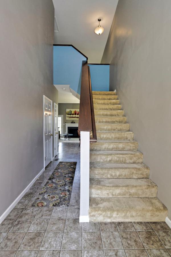 Enter the home through the spacious foyer.
