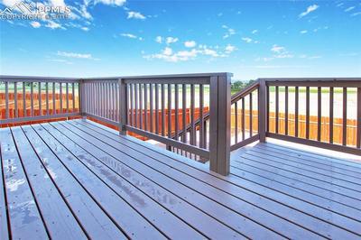 Nice deck to gaze at Pikes Peak