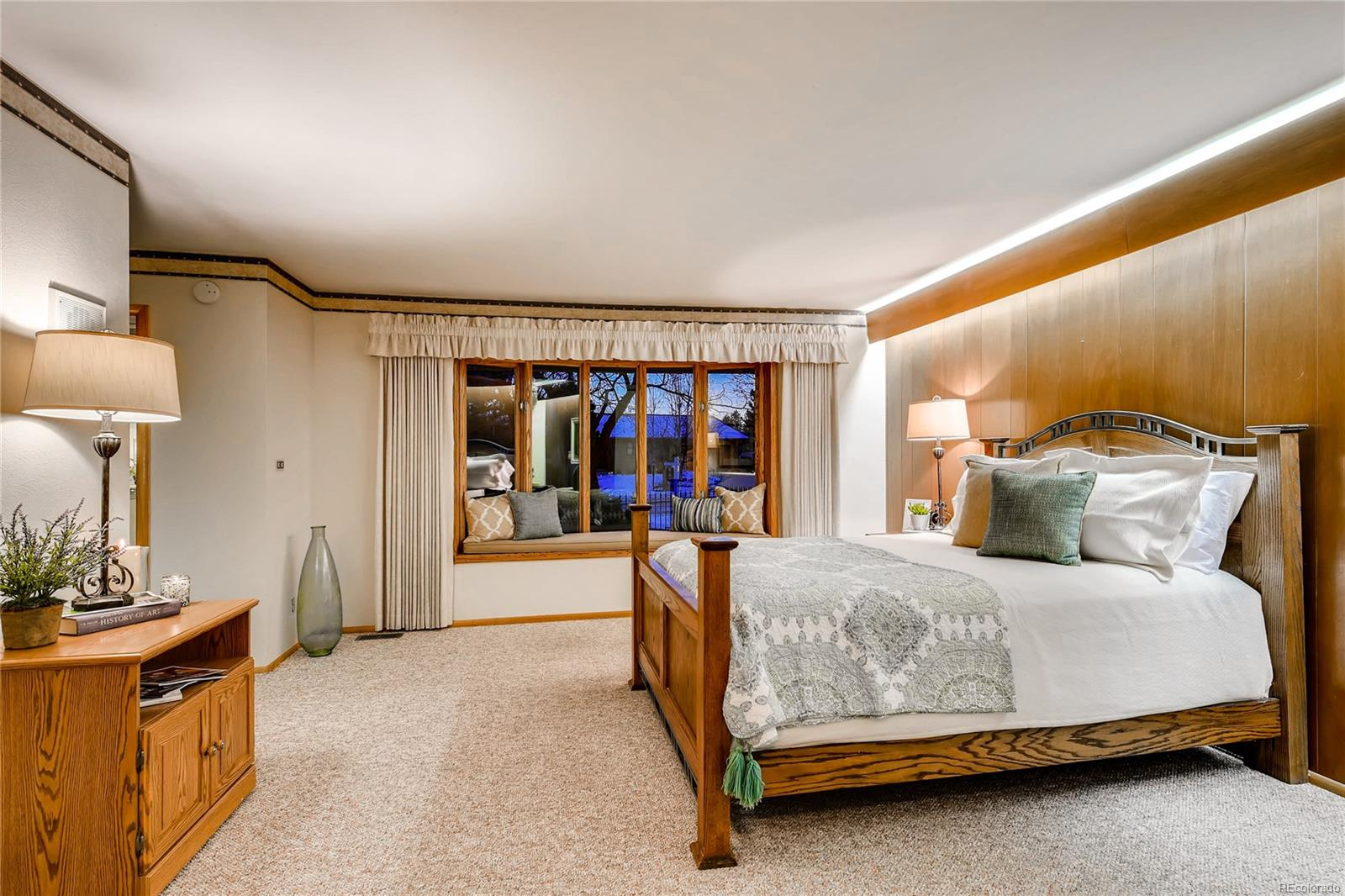 Spacious Master Bedroom with window seat.