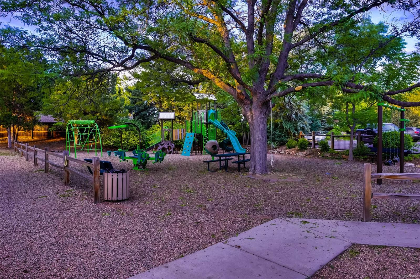 Bow Mar South Playground is usually full of children, parents and babysitters.