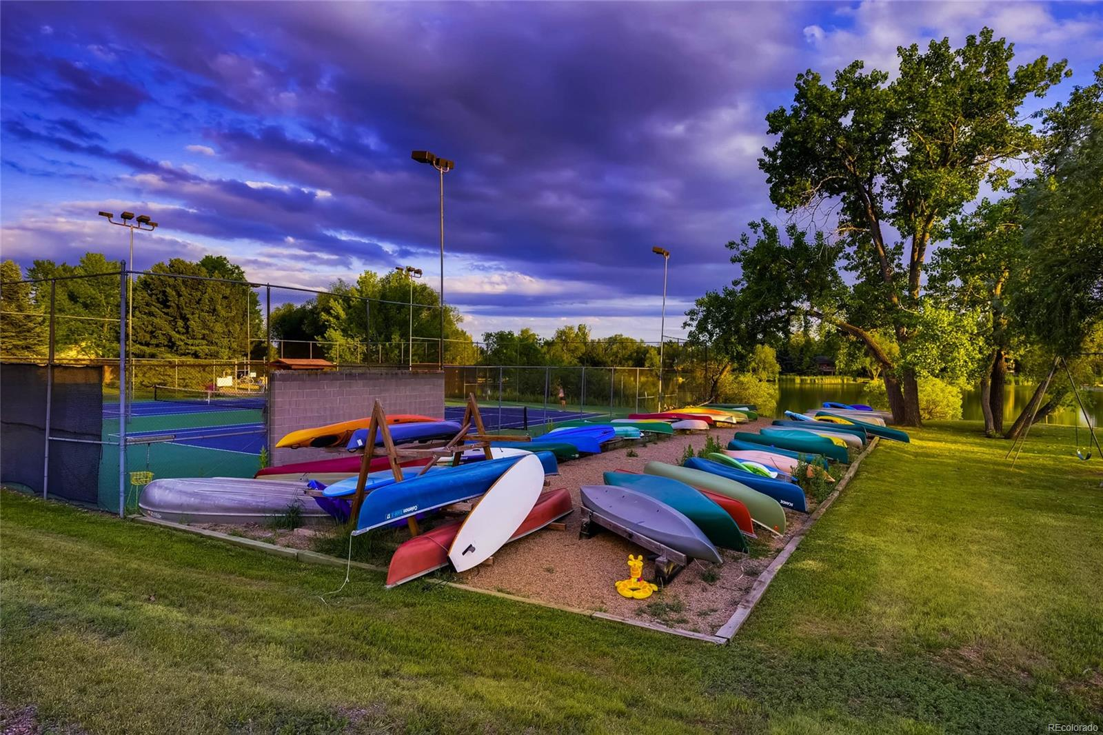 The storage area for canoes, kayaks and paddleboards.