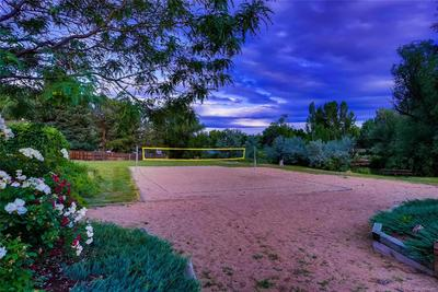 The Volleyball Court and Horseshoe Pits see lots of activity during the summer a