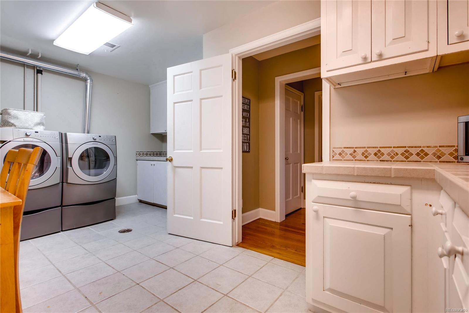 Laundry and Craft Room.