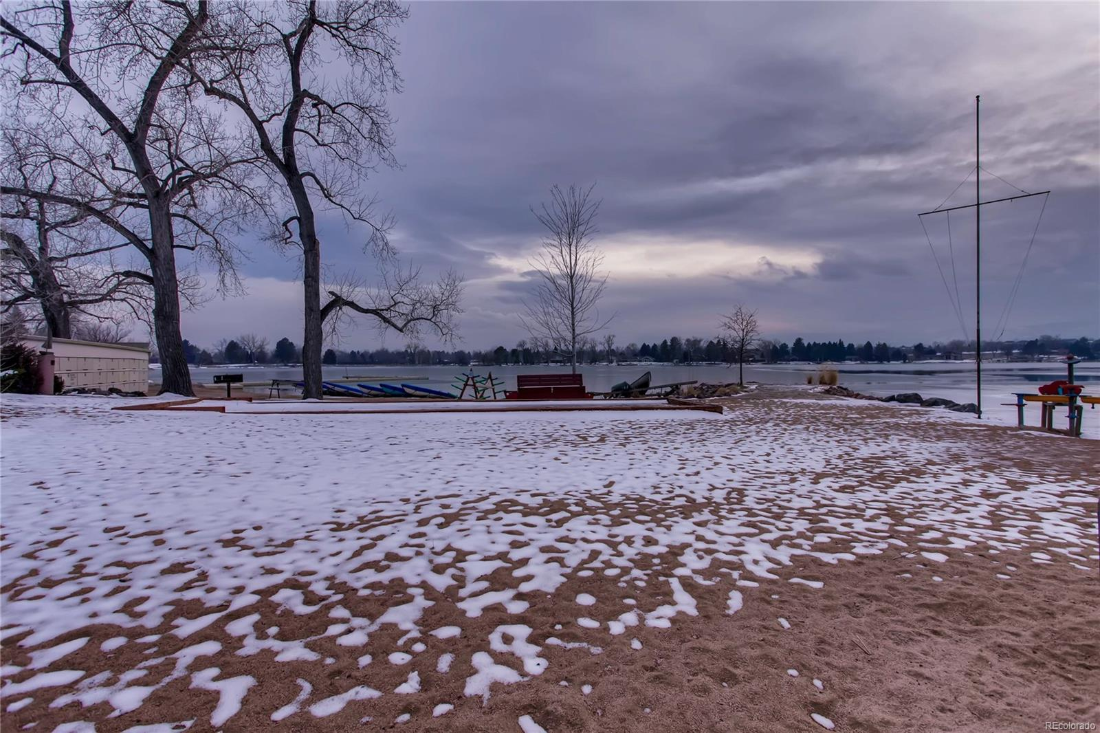 The sailboats at Bow Mar Beach are covered for the winter and ready for action t