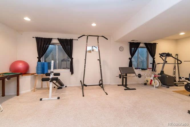 Space for work out room or TV room!