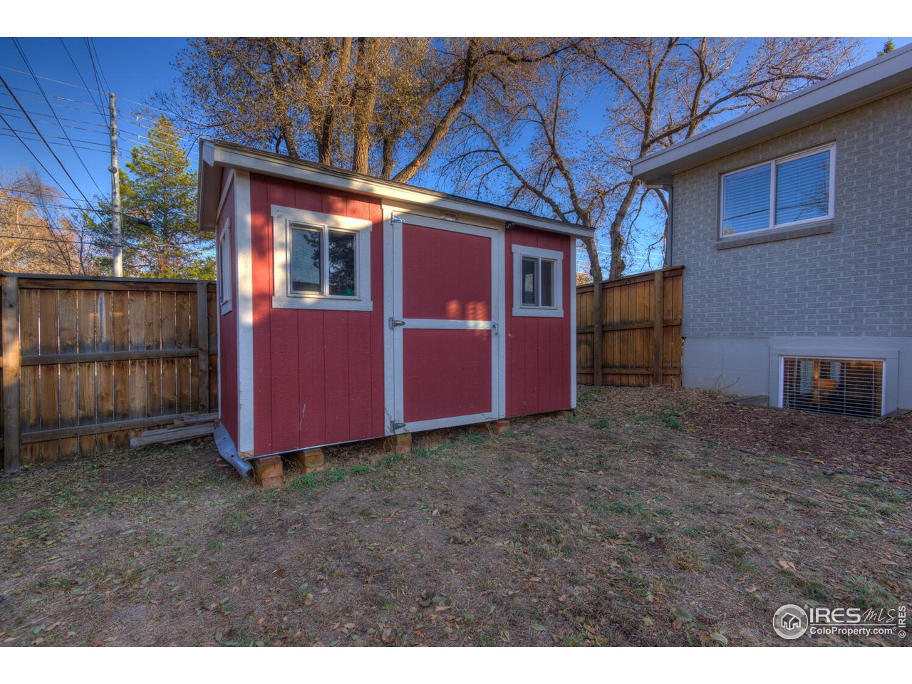 Storage shed in North-side Yard