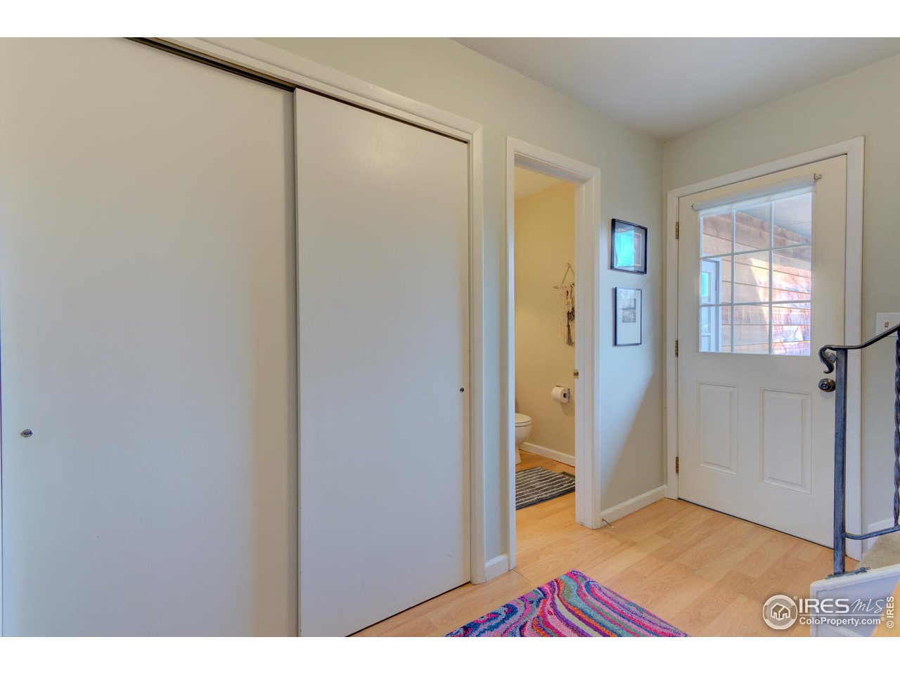 1/2 bath off Entry plus Coat Closet