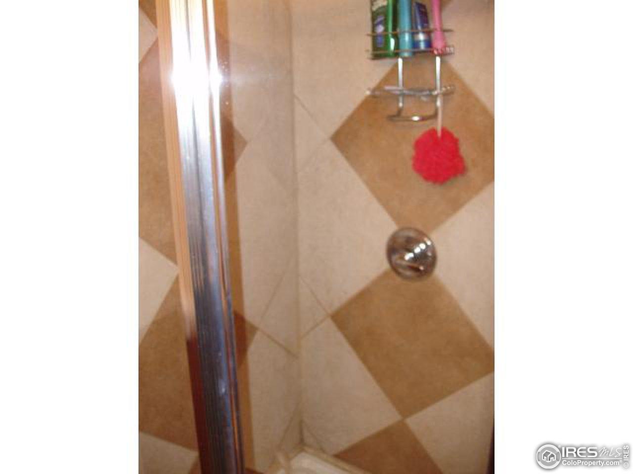 Sample shower tilework