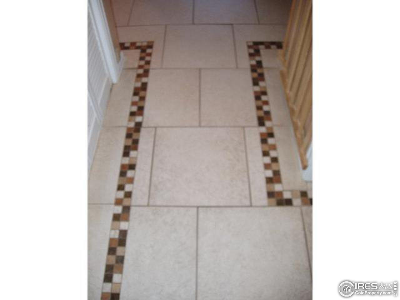 Sample floor tilework