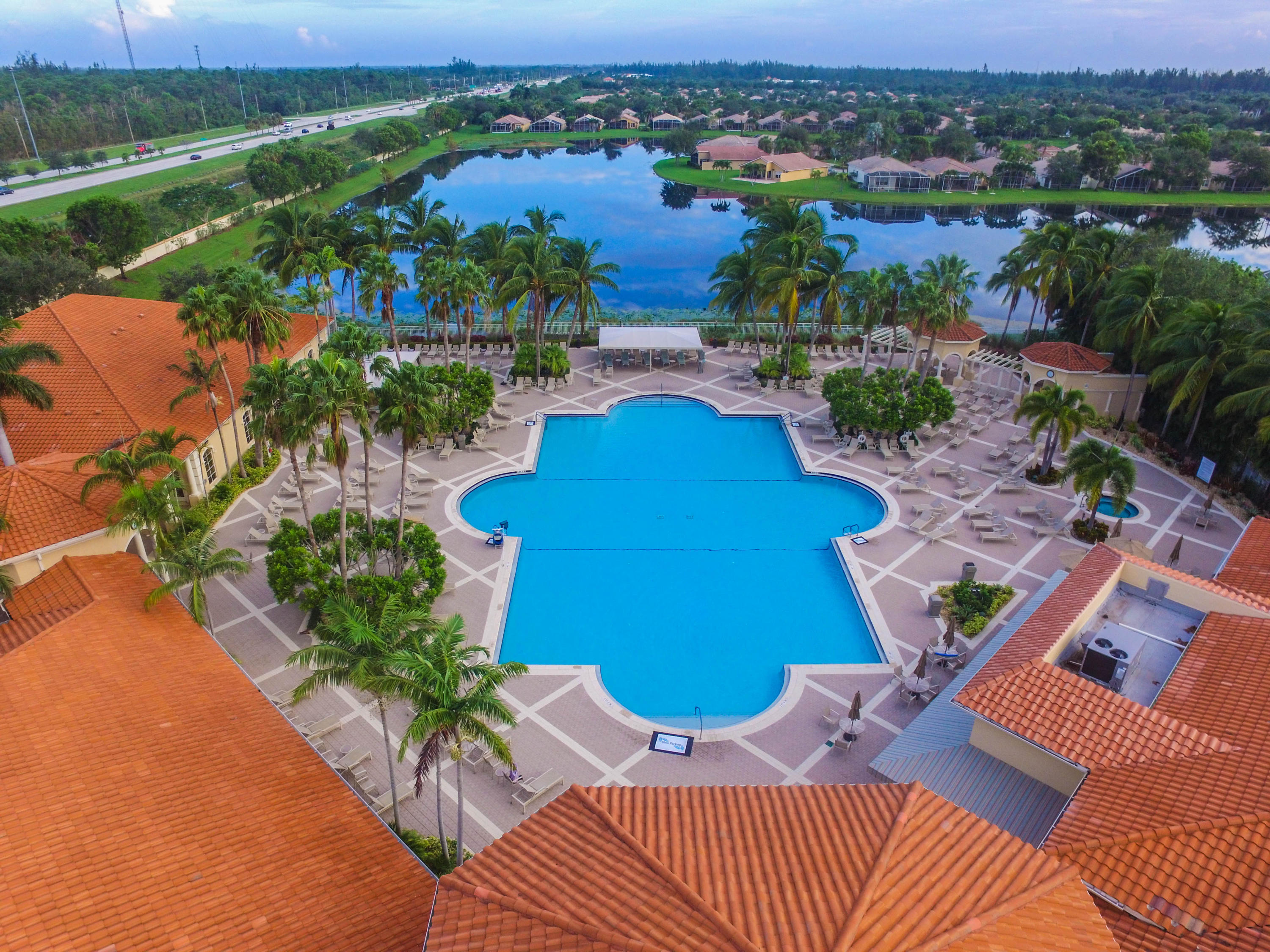 Arial View of Resort Pool