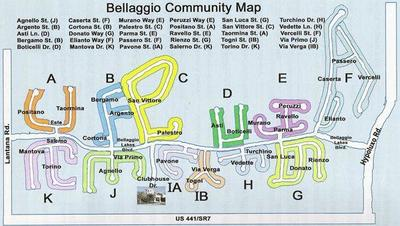 Interior Map of Bellaggio