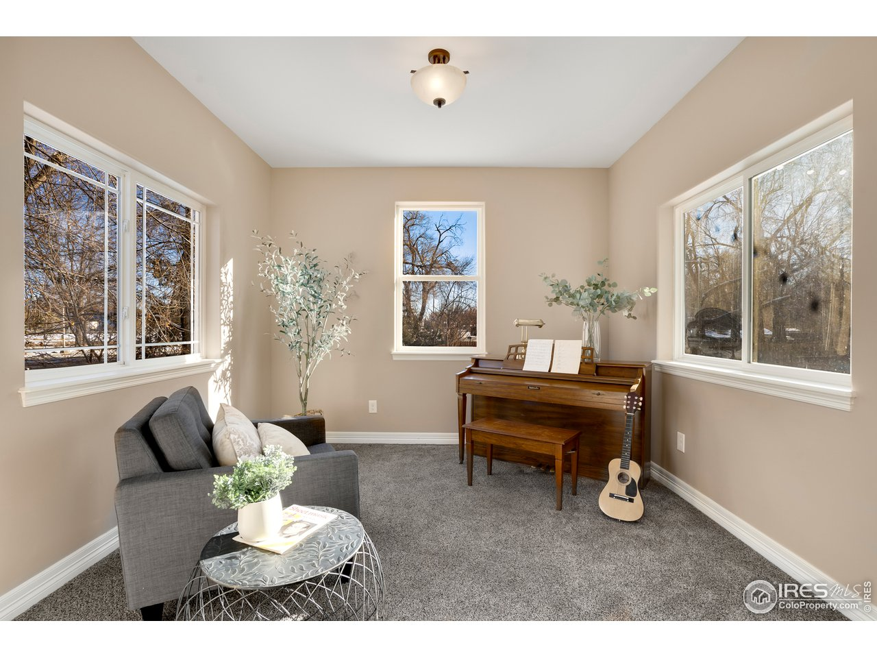 Formal living room off of foyer