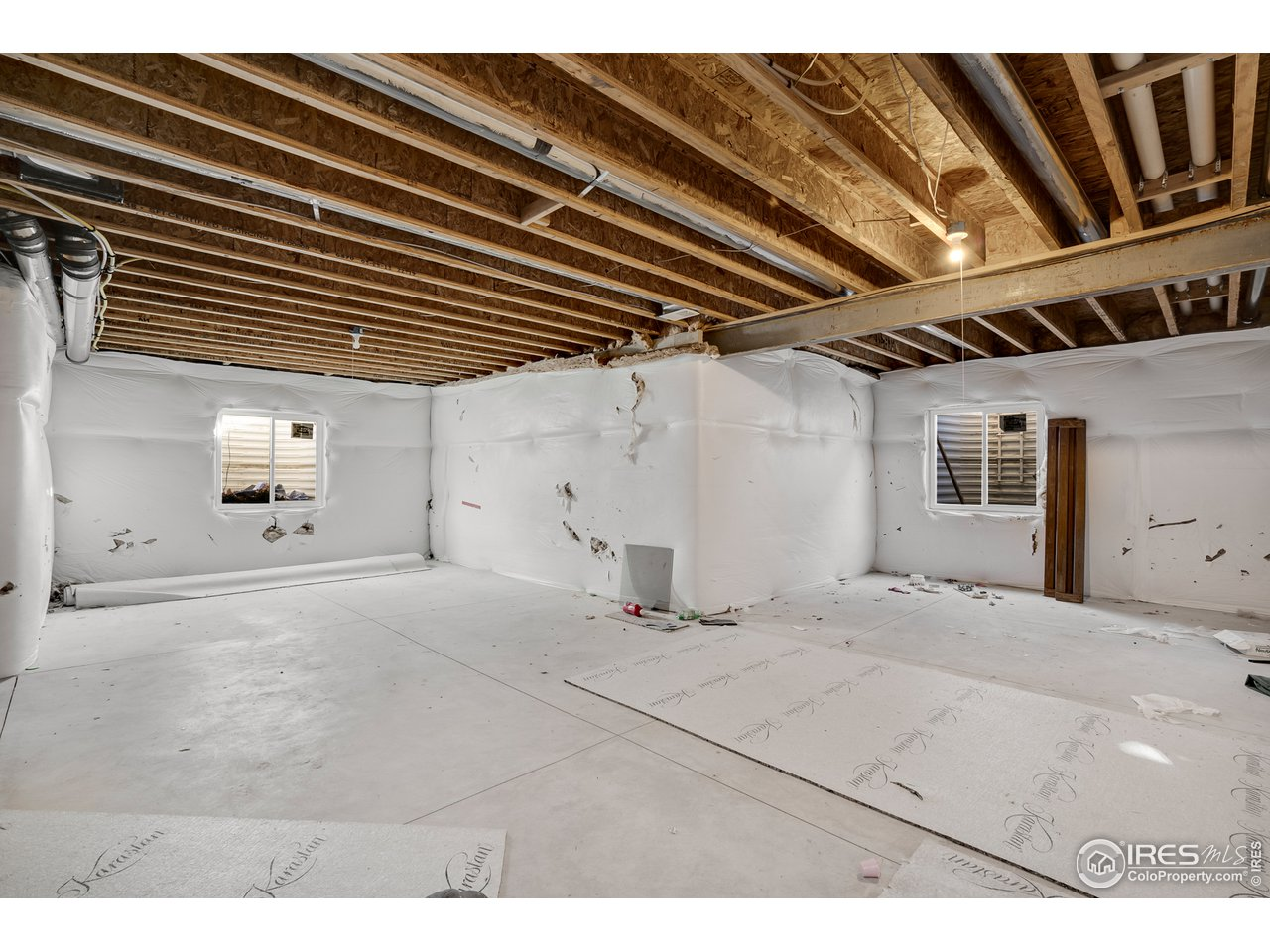 unfinished basement - room to expand with living area, future theater room, bedroom and bath